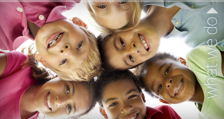 Family Service & Guidance Center - a circle of smiling children: How We Can Help.