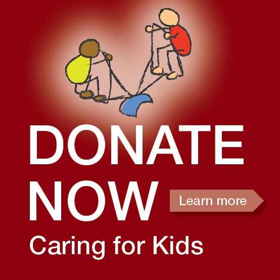 Donate now button kids