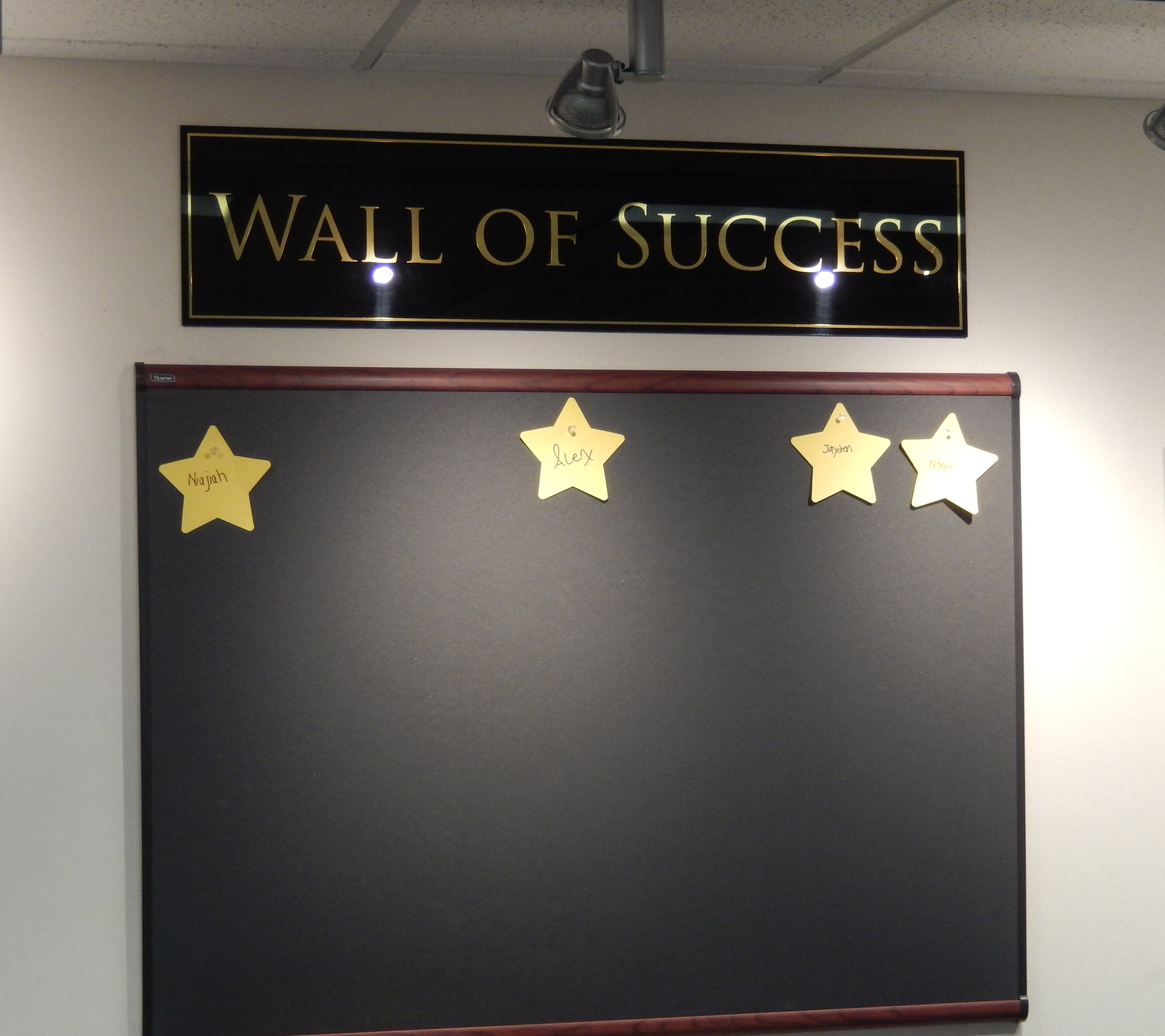 just the wall of succes